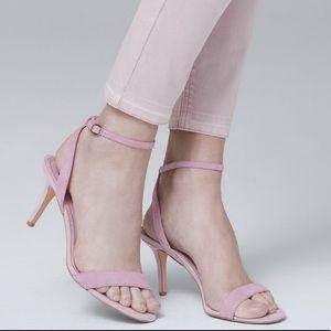 WHBM lavender strappy sandal high heels